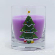 Wholesale custom shape christmas decoration glass jar candle