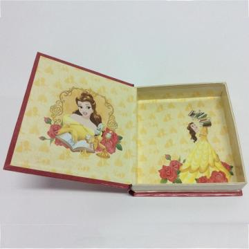 Paper book-shaped cartoon storage box