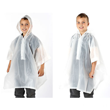Clear PVC Kids Poncho