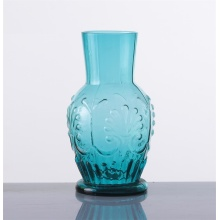 Hand Made Blue Water Glass Unique Designed Bottle