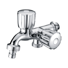 Zinc Dual Handle Wash Machine Faucet Tap Bibcock