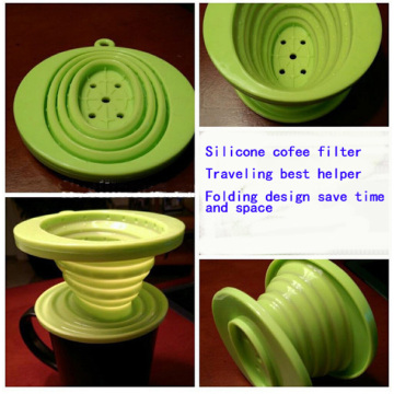 100% food standard silicone coffee cone filter