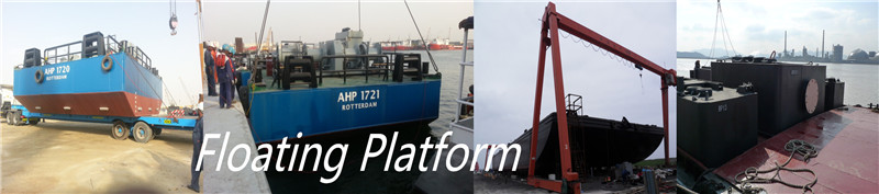 floating platform instrument for dredging