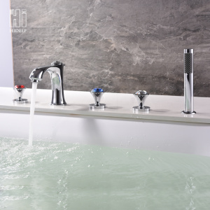 HIDEEP Full Copper Bathtub Faucet Three-piece