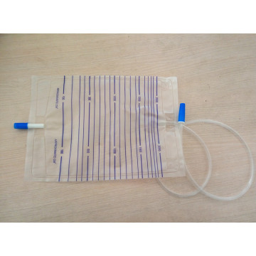 Bolso de orina disponible médico 2000ml con el enchufe