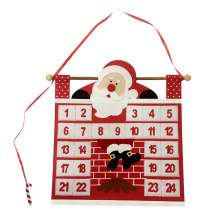 Christmas advent calendar with Santa and fireplace design