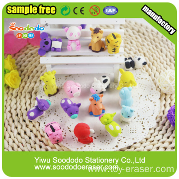 Animal Group shaped eraser Stationery sets ,Rubber eraser