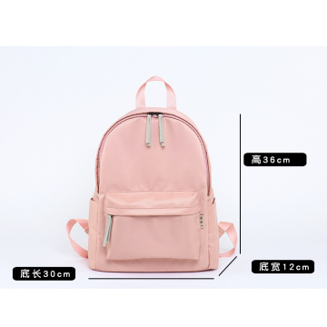 Custom pure color nylon   backpack