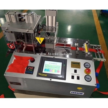 Automatic Angle Webbing Cutting Machine with Hole Puncher