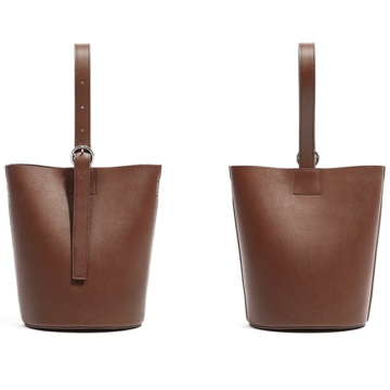 Simple and retro style portable bucket bag