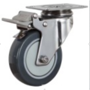 4  inch Stainless steel bracket medium duty  casters without brakes