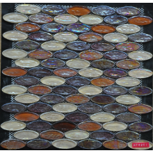 oval marble crystal mosaic