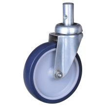 Manufacturer of for Round Stem Caster,Zinc Plate Casters,Caster Round Stem Wheel Manufacturer in China 5'' round stem casters with TPE wheels export to Ecuador Supplier