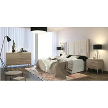 High gloss finished wood bedroom furniture
