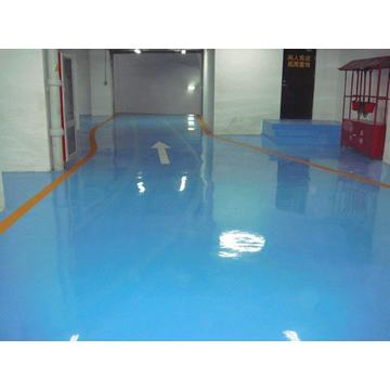 Indoor solvent-free epoxy self-flowing flat paint