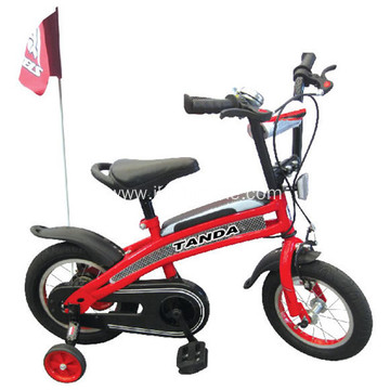 Black Kids Bike With Steel Chain Cover
