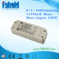 Flicker Free 1-10v dimming driver driver 45w 1100ma