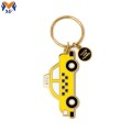 Custom enamel car shaped keychian