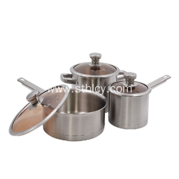 kitchen appliance stainless steel cookware set