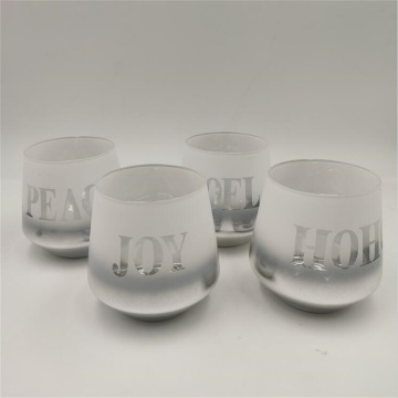 Laser engraving stemless wine glass
