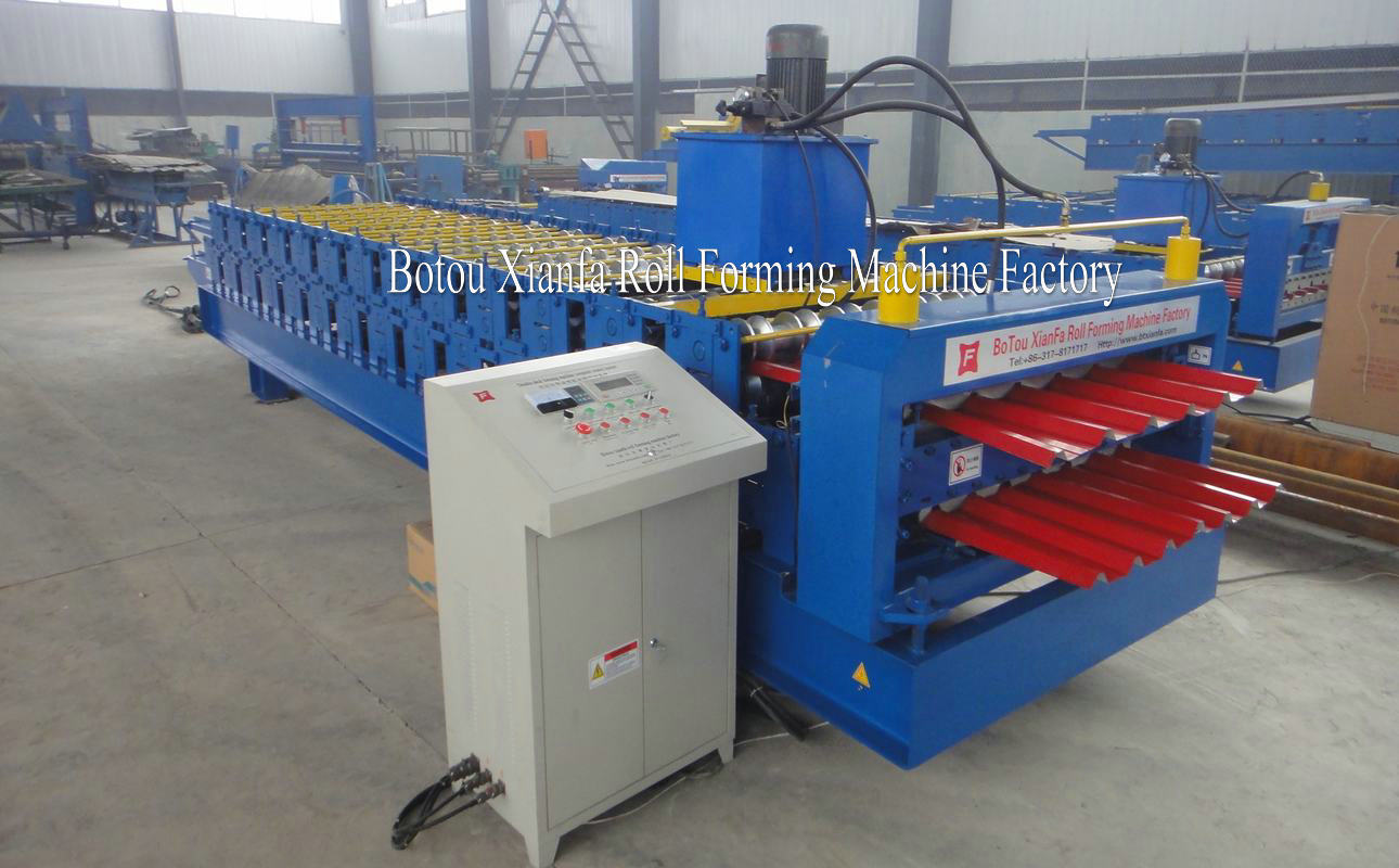 roof panel sheet forming machine