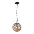 Modern Round Hand Blown Glass Ball Pendant Lamp