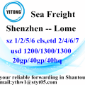 Shenzhen Sea Freight Shipping Services to Lome