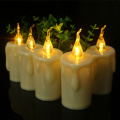 Soft Light Flashing Beveled Tear Votive LED Candle