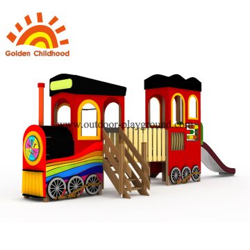 Train Shape Outdoor Playground Equipment For Kids