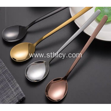 304 Quality Excellent Color Stainless Steel Small Spoon