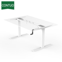 Manual Height Adjustable Standing Desk Frame Hand Crank