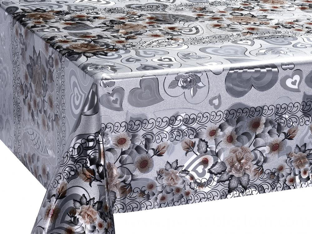 Double Face Silver Gold Tablecloth 5