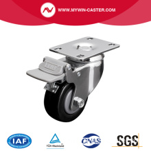 Medium 3 Inch 110Kg Plate Brake PU Caster