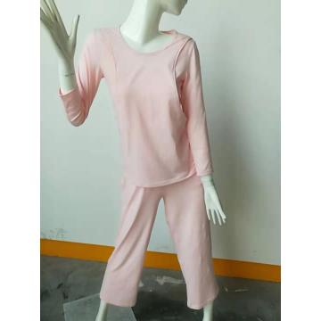 95% Cotton + 5% spandex  half sleeve pajamas