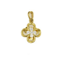High quality factory for Inlaid Zircon Princess Crown Pendant Lucky Leaf Yellow Gold Pendant 18 K export to British Indian Ocean Territory Suppliers