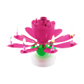 Color Box double layers lotus birthday candle