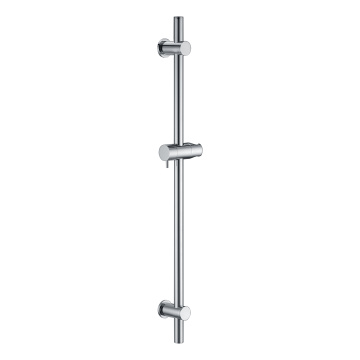 Round Shower Rail With Round Plinth