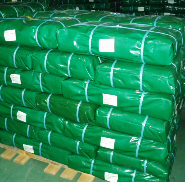 PE tarp bale packing
