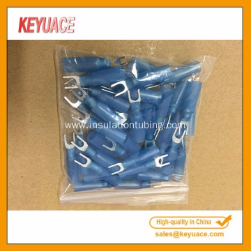Blue Heat Shrink Fork Wire Waterproof Terminals