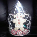 Large Rhinestone Christmas Snowman Crown
