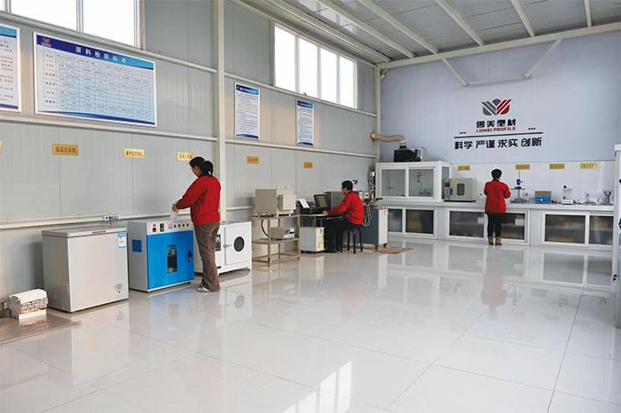Lumei uPVC profiles testing lab