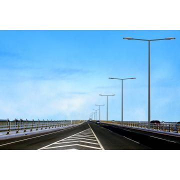 New Fashion Design for China supplier of Street Lighting Pole, Lamp Pole, Powder Coated Lighting Pole LED illumine Steel Pole export to Gambia Supplier