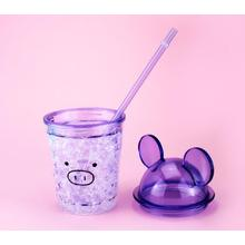 Creative Cute Cool Plastic Straw Water Cup