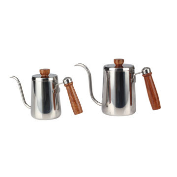 Pour Over Coffee Maker With Wooden Handle