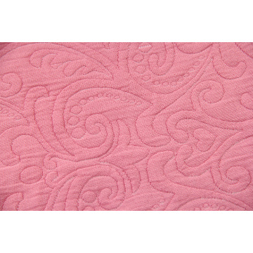 King Size Floral Embossed Peach Blanket Throw