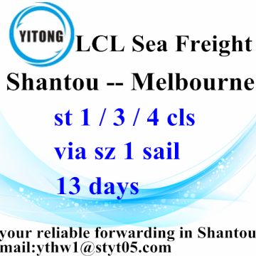 LCL Logistic Services from Shantou to Melbourne