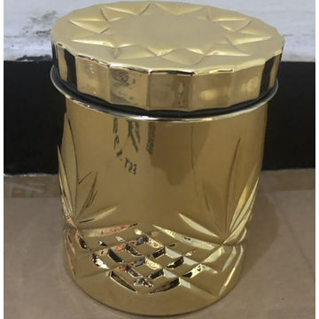 Glass Jar Candy Gold Container With Lid
