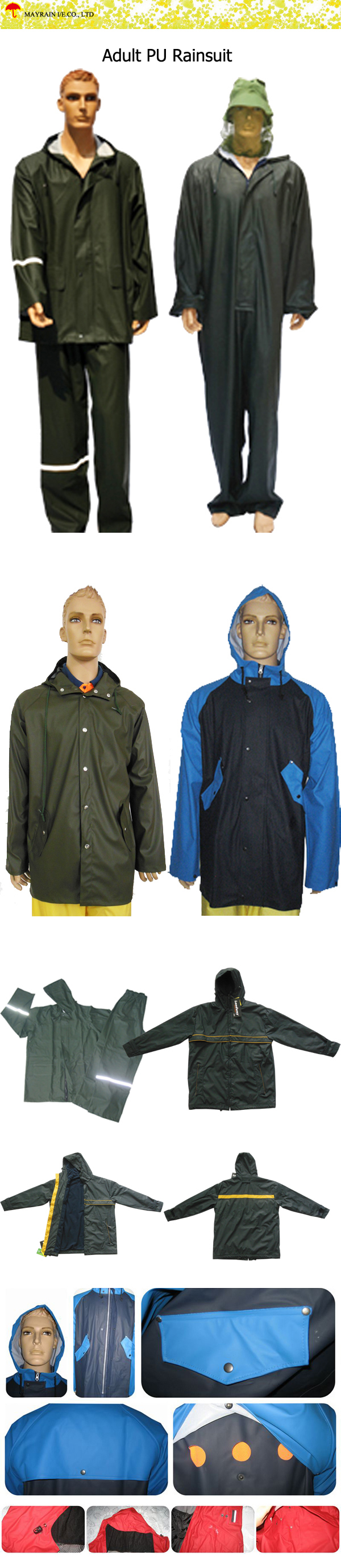 Adult PU Rainsuit