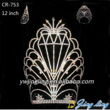 Europe style for for Sunflower Crown 12 Inch Wholesale Rhinestone Pageant Crown For Sale supply to Zambia Factory