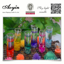 Home glass jar cup red gel candle wholesale